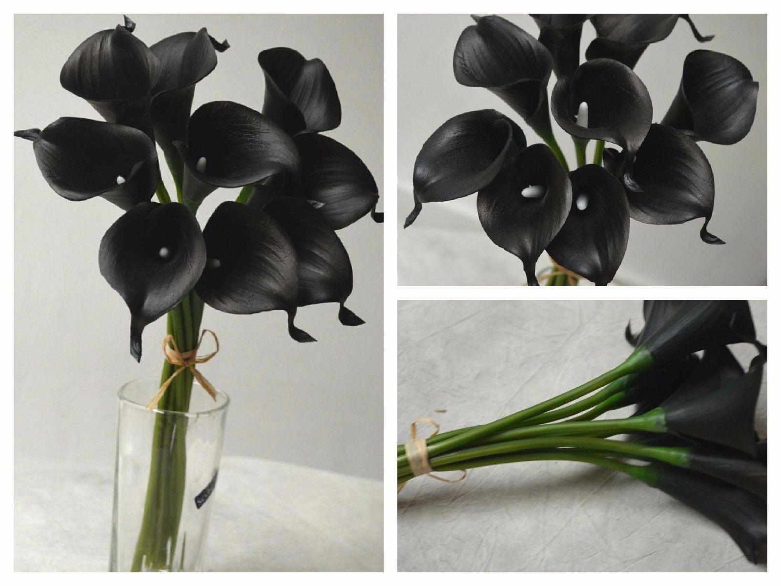 2018 10 single stem real touch flowers black calla lily black 2018 10 single stem real touch flowers black calla lily black flowers silk for bridal bouquet wedding home decor from hyh2013 503 dhgate mightylinksfo
