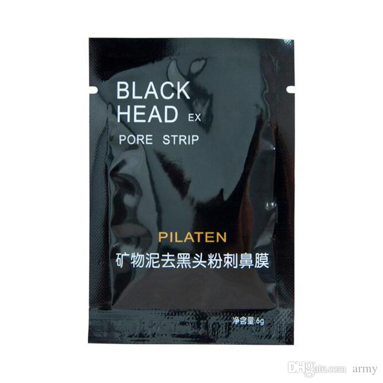 2019 pilaten minerali facciali conk naso blackhead rimozione maschera poro detergente naso nero testa ex poro striscia dhl gratis