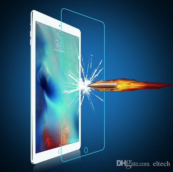 무료 배송 프리미엄 강화 강화 유리 스크린 보호 필름 케이스 iPad 최소, Ipad 2 3 4, ipad 공기 삼성 giift 박스 패키지