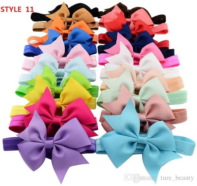 """14 STYLE AVAILABLE !3""""bowknot HairBow,Baby Hairbows Baby Girls Headband Hair Bows With Clip,Kids Hair Accessories Drop Shipping! /"""