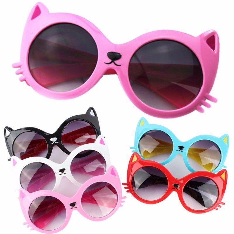 Toddler Girl Boy Cartoon Cat Glasses Cute Baby Anti-UV400 Sunglasses NEW US