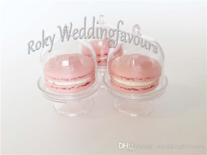 Acrylic Clear Mini Cake Stand Baby Shower Party Gifts Birthday Favors Holders Kids' Party Decoration Supplies Ideas