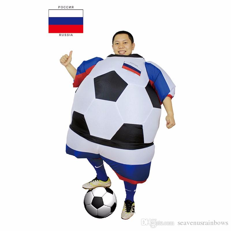 Russia Football Player Halloween Costume For Men And Women Adults Soccer  Costume Fancy Dress Party Club Stagfan Operated Outfit Mascot Pirate  Halloween ... - Russia Football Player Halloween Costume For Men And Women Adults