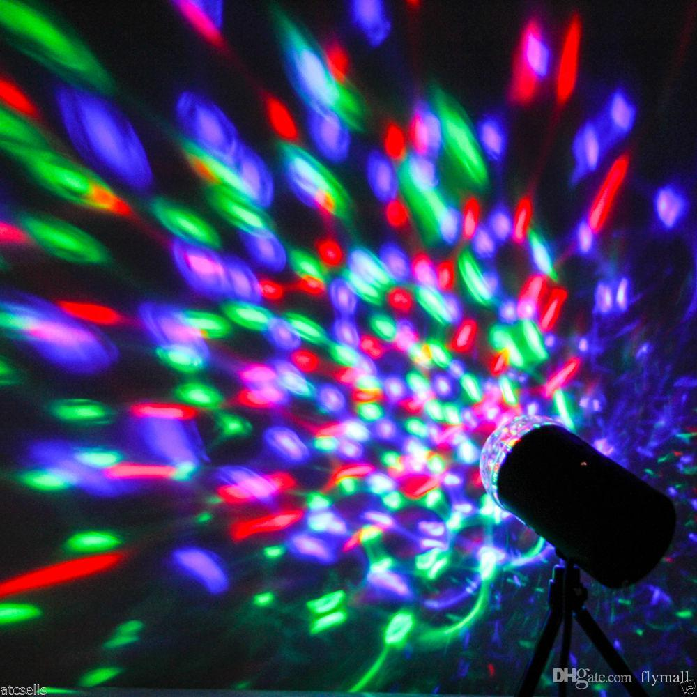 3W RGB 풀 컬러 자동 회전 램프 파티 장식에 대 한 음성 활성화 크리스탈 매직 볼 레이저 무대 조명 디스코 DJ 바 Led 전구 KTV 빛