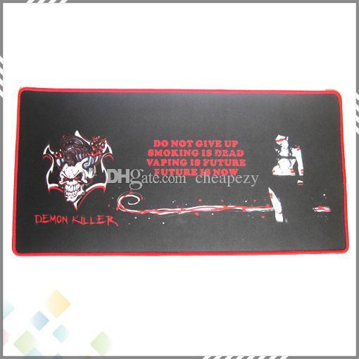 악마 킬러 바 매트 60 * 30 * 0.3CM 사각형 전자 담배 바 패드 천연 고무 + 멀티 스판덱스 고품질 DHL 무료