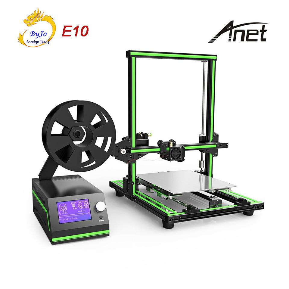 Anet E10 Aluminum Frame 3D Printer High-Precision Large Printing Size With LCD Screen Support TF Card Off-line Printing Windows Mac System