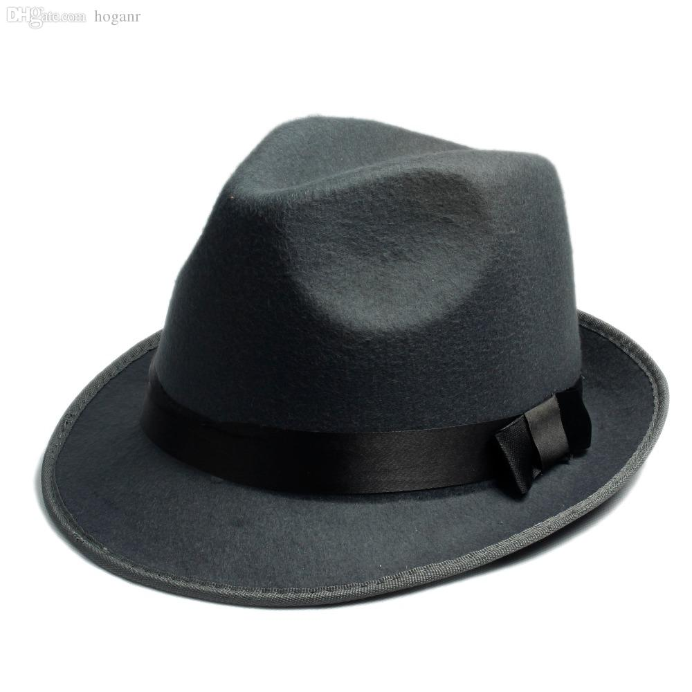 c62272199b1bd8 Wholesale-Women's Men's Fedora Crushable Genuine Felt Bush Sun Hat ...