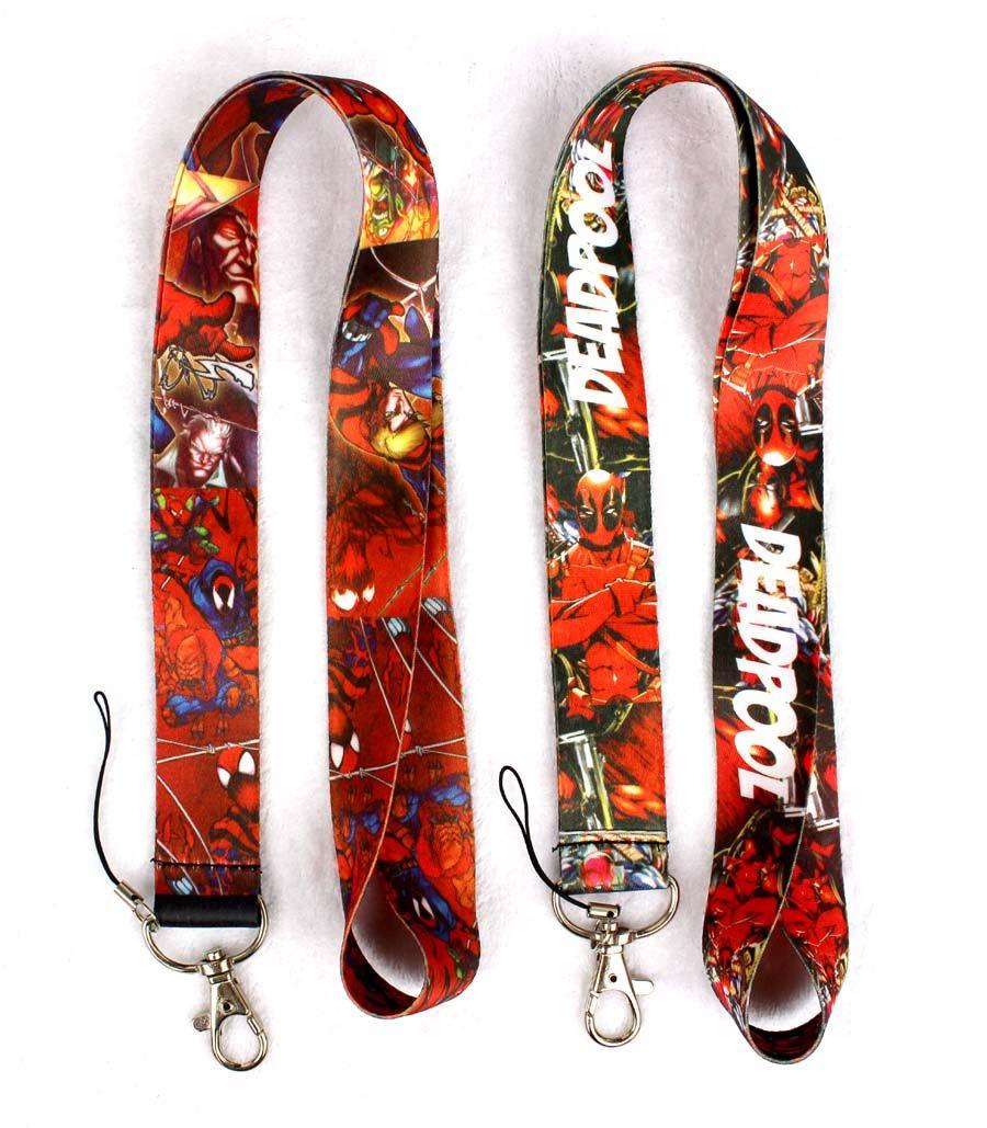 Mix Style Classic Marvel Comics Hero Deadpool Mobile Phone Neck Straps Neck Strap Keys Camera ID Card Lanyard