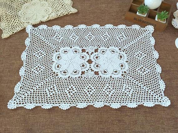 Handmade Crochet Table Matscotton Wedding Centerpieces 100
