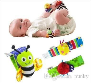 800pcs New arrival Lamaze Wrist rattle & foot finder Baby toys Baby Rattle Socks Lamaze Baby Rattle Socks and wristbands