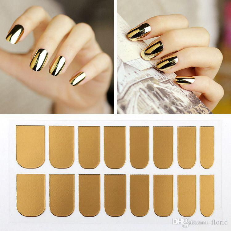 Gold Or Silver Nail Art Decorations Sticker Patch Foils Armour Stickers  Cool Nail Stickers For Nails Beauty Nail Polish Stickers Nail Rhinestones  From ... 7b720535622b