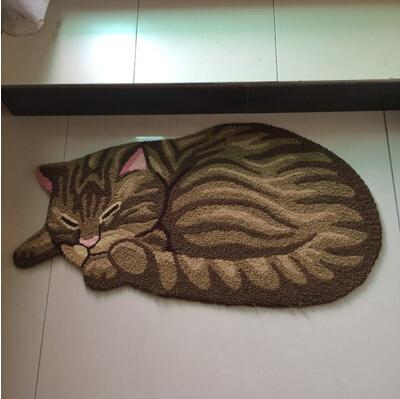 85*45cm Hot Cat Shape Home Decorative Mat Anti Slip Bedside Rugs Washable  Kitchen Floor Mats Area Rugs Online Iranian Carpets From Wmy136, $63.17|  Dhgate.
