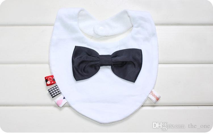 Bavaglino PrettyBaby Bavaglino unisex in cotone neonato baby con bavero bowknot bandana bavoir bavaglino con papillon bavaglino neonato