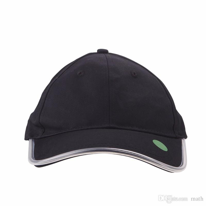 2016 Fashion LED Lighted Glow Club Party Black Fabric Travel Hat Baseball Cap
