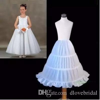 100% Same as Picture Three Circle Hoop White Girls' Petticoats Ball Gown Children Kid Dress Slip Flower Girl Skirt Petticoat