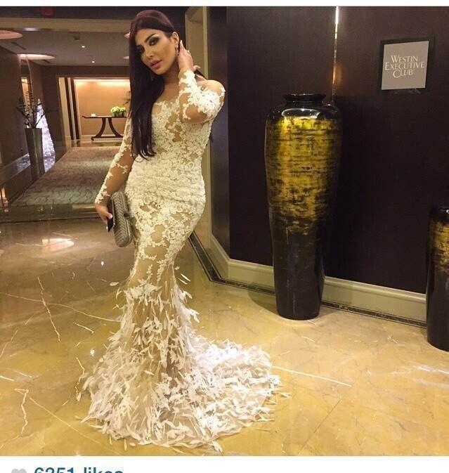 Großhandel Arabische Dubai Kleid Nackte Farben Elfenbein Spitze ...