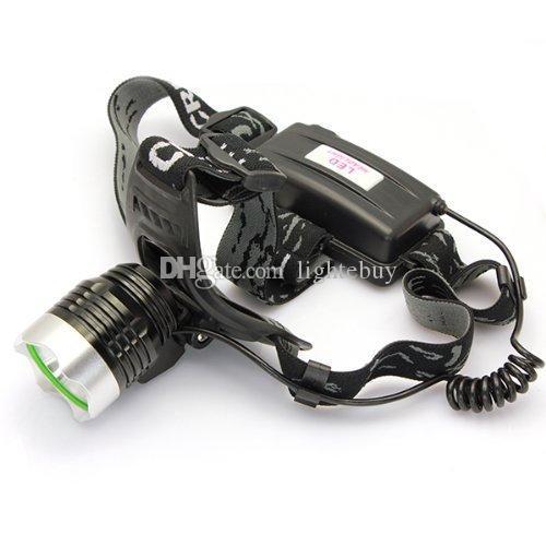 Projecteur LED 1800 Lumens XM-L T6 Projecteur pour Chasse Camping avec 18650 chargeur de batterie + chargeur de voiture boîte cadeau