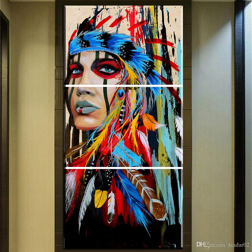 Trusted Home Painting Services In India: 2018 Zz678 Beauty Art Canvas Painting Native American
