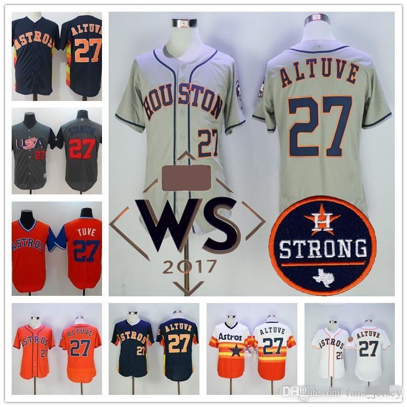 best loved 06e96 15f85 astros 27 jose altuve orange team logo fashion stitched mlb ...