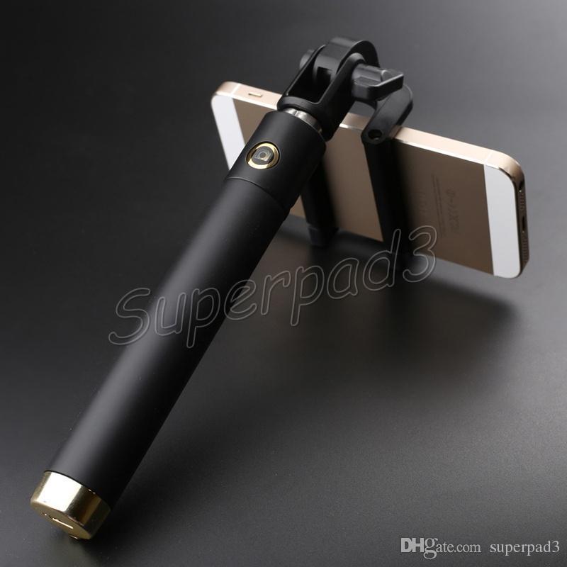 Protable Selfie Stick Pocket Locust Bluetooth Wireless Mini Monopods Extendable Handheld Self Portrait Stick DHL