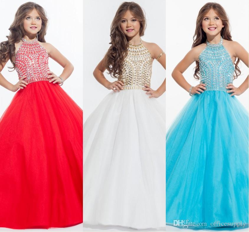 Perfect Angles 2017 Sparkly Beaded Crystal Girls Pageant Dresses ...