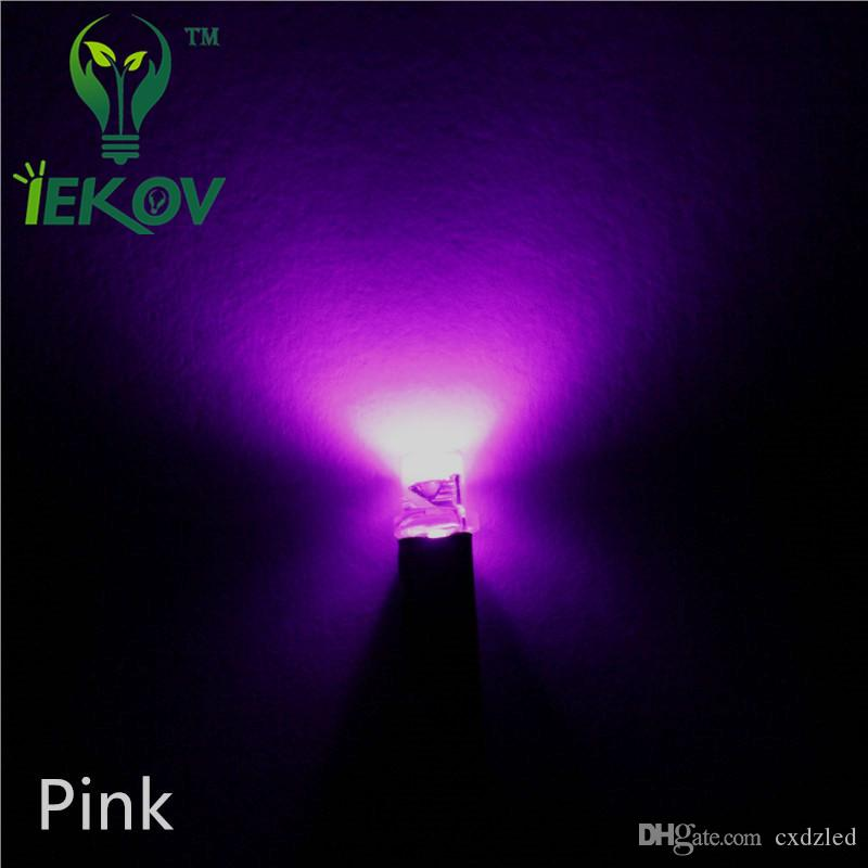 2018 3mm Flat Top 12v Pre Wired Resistor Pink Led Dc 20cm Wide Angle Light  Bulb Emitting Diodes For Car Toy Diy Retail Wholesale From Cxdzled, ...