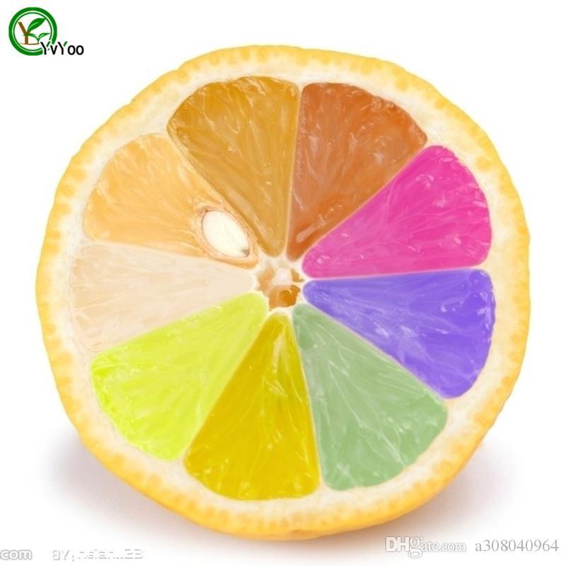 Semillas de limón colorizadas Plantas de jardín Bonsai Fruta orgánica Semillas de verduras X007