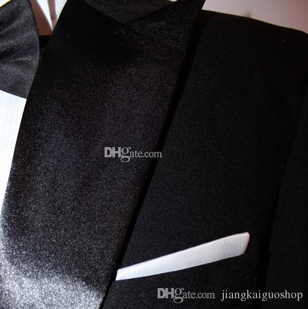 Personalizzato un pulsante uomini di alta qualità Groom smoking mens mens Suits giacca + pantaloni + prua + cintura foto reali