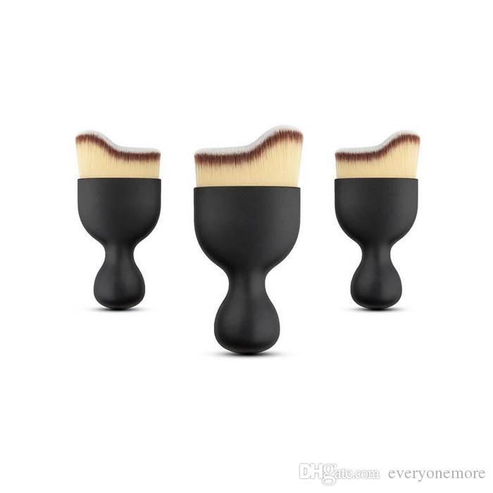 Новый фонд кисть S форма крем макияж кисти рассыпчатая пудра кисти многофункциональный макияж кисти изогнутые лицо кисти