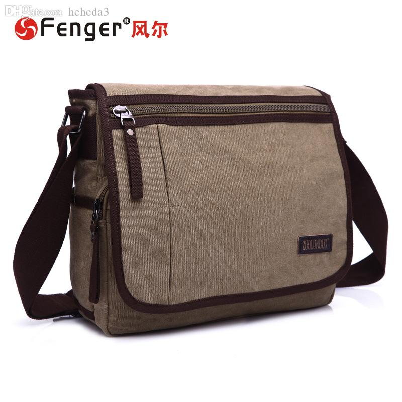 Wholesale-2016 New Men Messenger Bags High Quality Canvas Shoulder Bag Men s  Travel Bags Fashion Briefcase Business Bag Bags Made in Thailand Bag Needle  Bag ... 03b2dde14d
