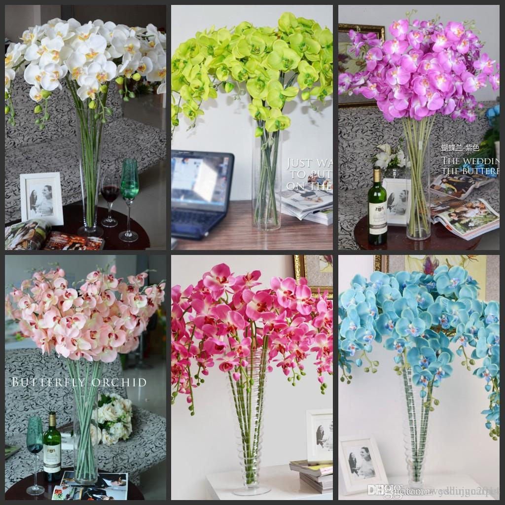 Best and cheapest decorative flowers wreaths 78cm3071 length pu best and cheapest decorative flowers wreaths 78cm3071 length pu phalaenopsis real touch butterfly orchid flower for christmas home ornament party izmirmasajfo