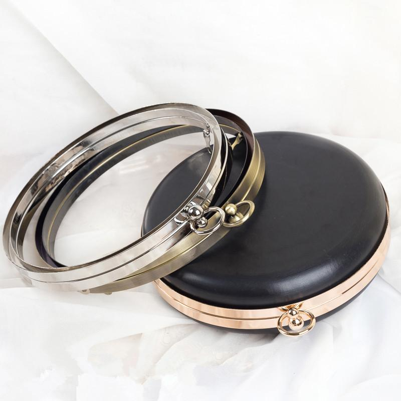 2018 round shape metal box purse frame handle purse handle hardware wholesale bag accesories for handbags bag strap metal purse frame from bag80666 - Metal Purse Frames