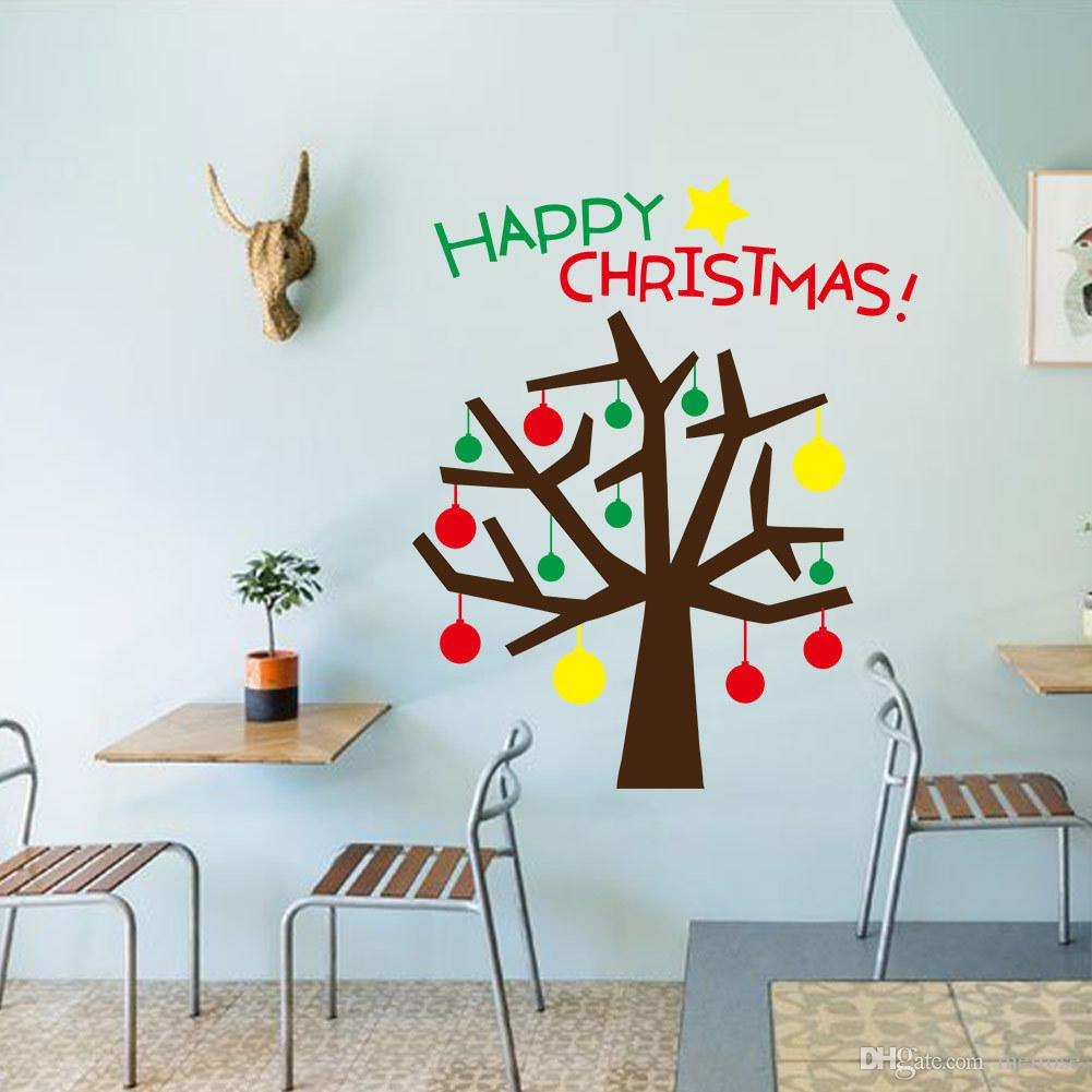 Hot Sale Wall Stickers for Decorative Christmas Tree Xmas Home Decoration Window Display Removable Wallpaper Product Code:90-2024