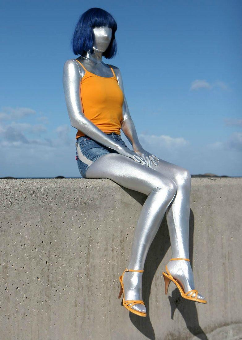 mw7285 mywayfashion luxury customize shiny metallic zentai