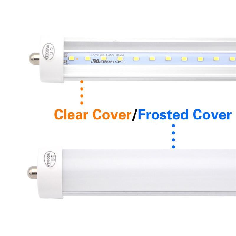 Packung mit 25 LED-8-Fuß-Rohr Glühbirne, 6000K Cold White, FA8 Einzel Pin, 85V-265V AC, 45W - 4800 Lumen 90W Leuchtstoffäquivalent