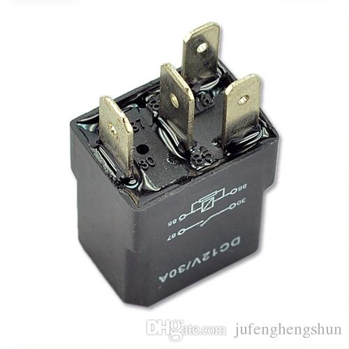 5/Car Auto Relay 12V 30A SPST Relay 4 pin prong High quality Kit for Electric Fan Fuel Pump Horn Universal