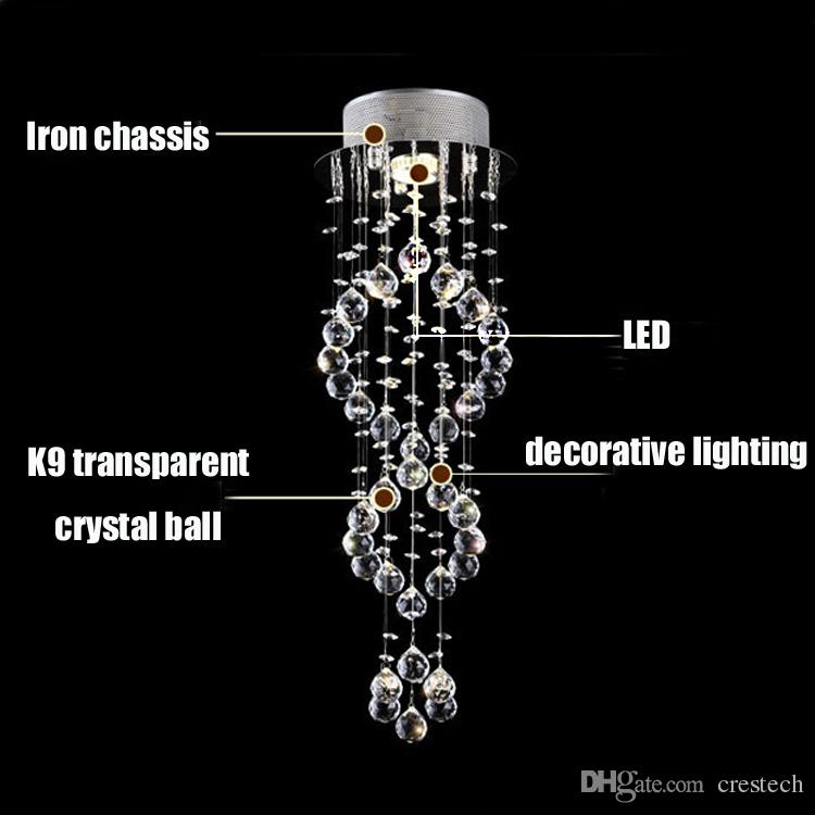 Lampadari moderni lampadari in vetro soffiato lampadari lampadari illuminazione Lampadari in cristallo goccia a spirale Luci scale scale