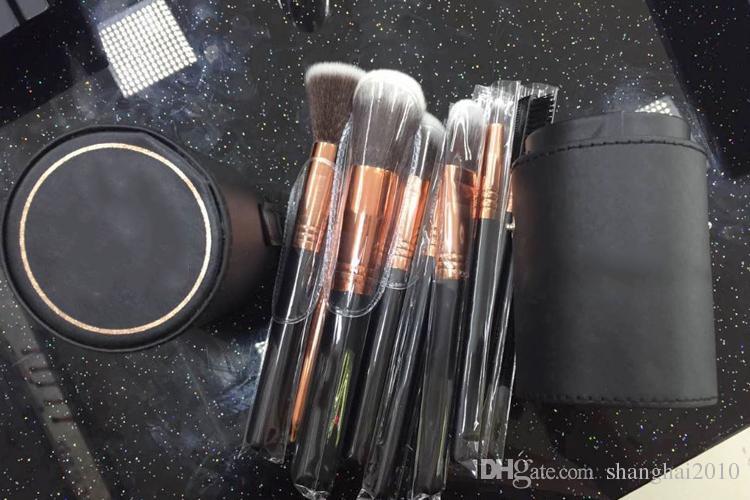 2016 New Ein Make-Up Pinsel Professionelle 12 teile / satz mit Leder Barrel Hohe Qualität 100 stücke