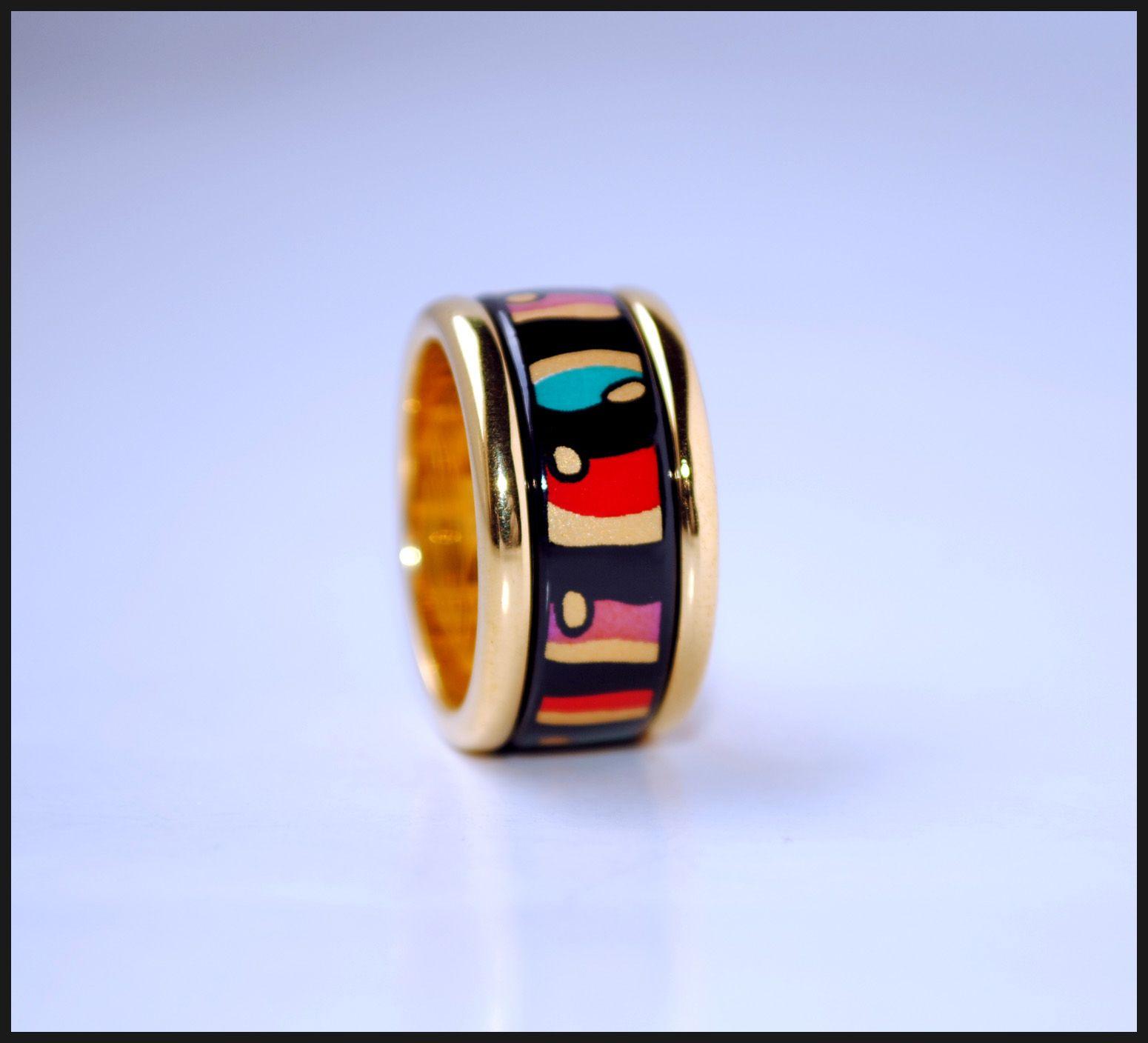 American Wind Series 18K anillos de esmalte chapados en oro Anillo de calidad superior para anillos de bandas de mujeres para regalo