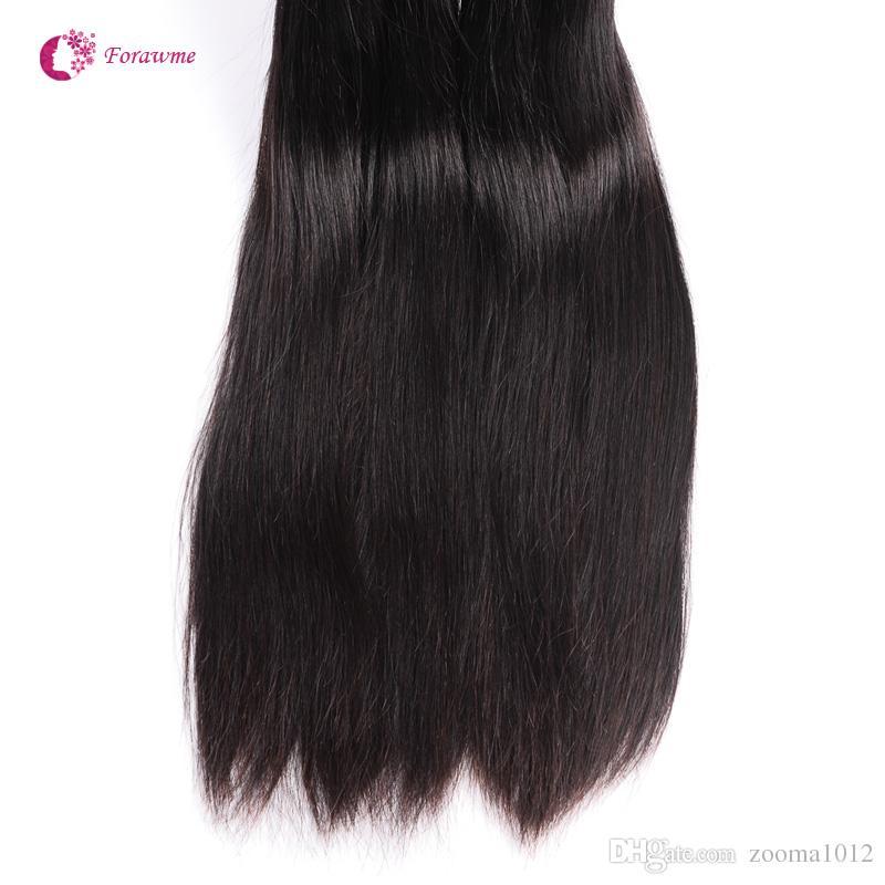 1 Brazilian Virgin Human Hair Weaves Soft Unprocessed Peruvian Straight Hair Weft Cheap Remy Forawme Hair #1B 8-30inch