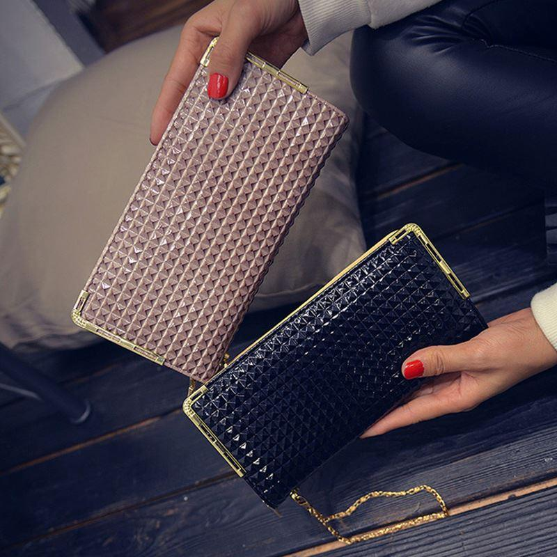 c90e3d045b 2017 Small Square Leather Women's Wallet New Premium Lady Long ...