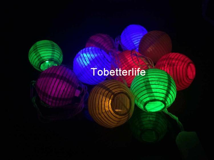 Chinesische Laternen runde rgby ww weißes Papier Laternen Licht führte Strings Hochzeit Weihnachten Xmas Festival Halloween Parteien Dekoration