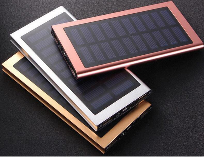 NEW 8000mAh Portable solar power bank Ultra-thin Powerbank backup Power Supply battery Power charger For Smart Phones