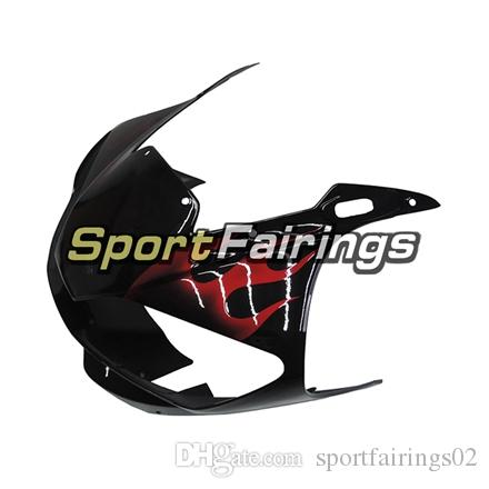 Injection Fairings For Yamaha YZF600 YZF R6 98 99 00 01 02 1998-2002 Plastics ABS Motorcycle Fairing Kit Bodywork Cowling Black Red Flames
