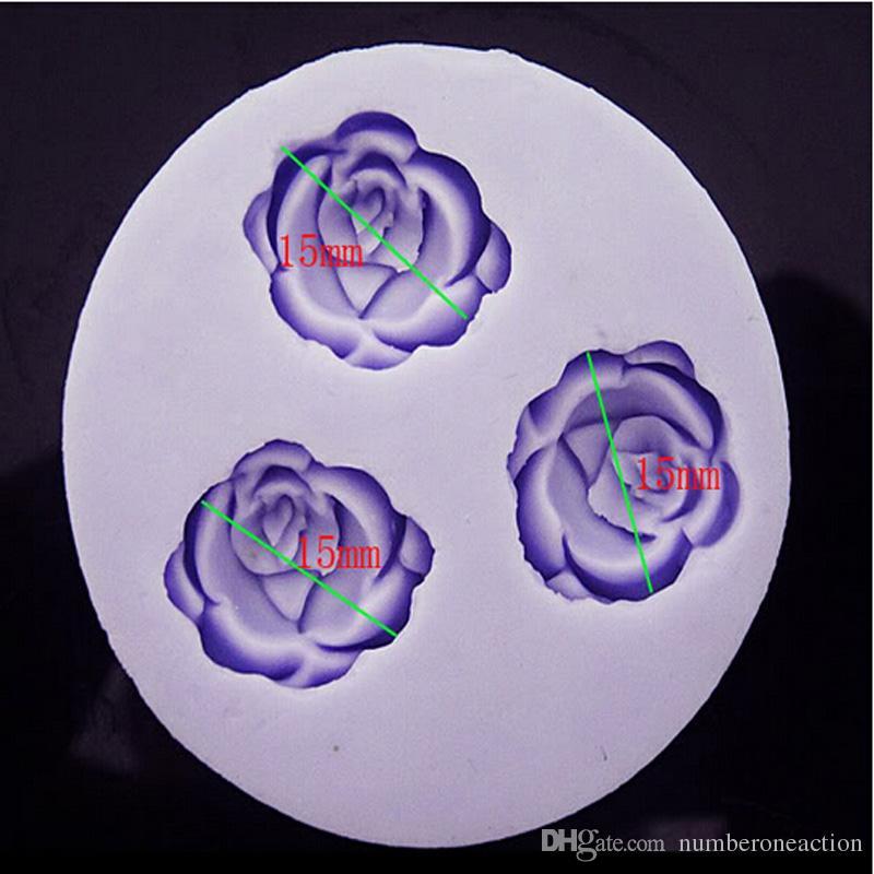 Николь 3D цветок силиконовые мини плесень ручной шоколад помадной торт сахар ремесло выпечки украшения инструмент