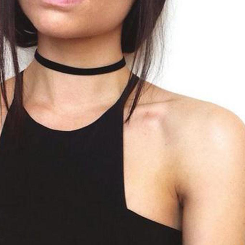 2016 Punk Gothic Black Lace Velvet Choker Necklace tattoo choker Necklaces For Women Chocker collares mujer Collier Femme Bijoux New Fashion