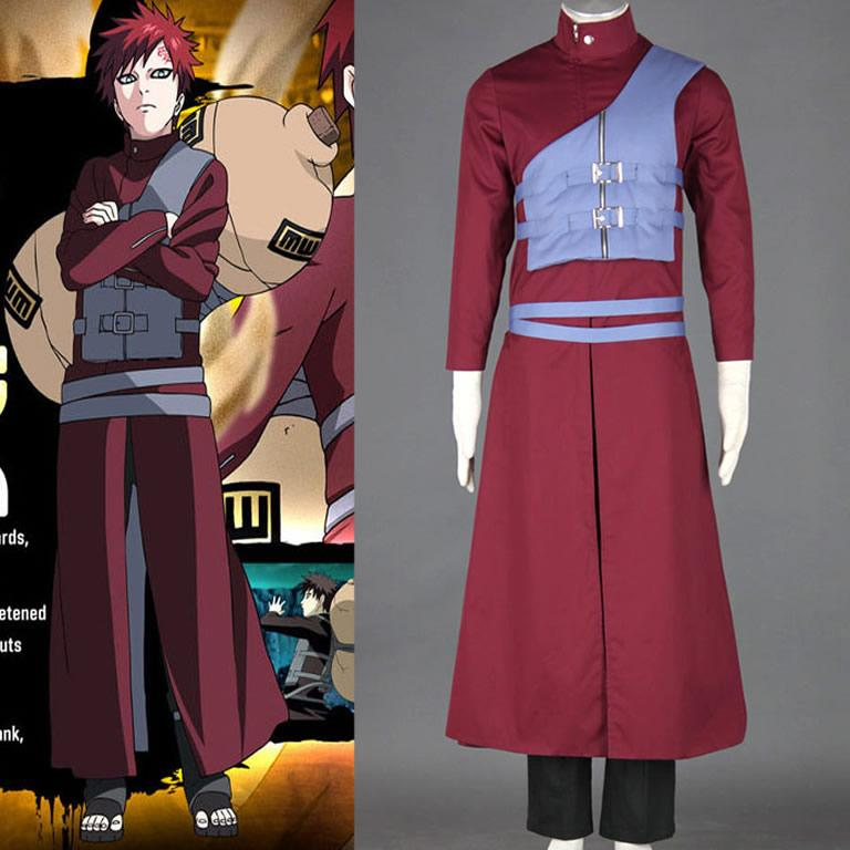 One Piece Halloween Set To Return To Tokyo One Piece Tower: Japanese Anime Naruto Cosplay Sabaku No Gaara Costume Vest