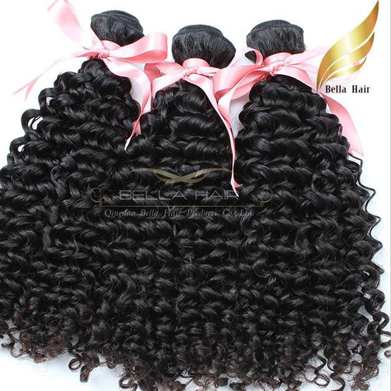 Бразильские наращивания человеческих волос Полная голова Усилители Девы Волосы Weaves Kinky Кудрявая Волна Тела Прямой Глубокая Волна Волос 8