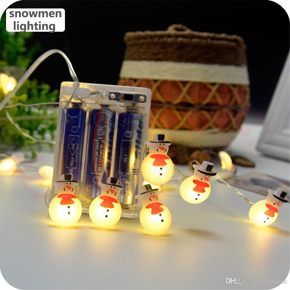Christmas Outdoor Led String Light Snowmen For Kids Room Decoration Led  Light Source Aa Battery Powered 10 Led Party Background Decor Light String  Light ...
