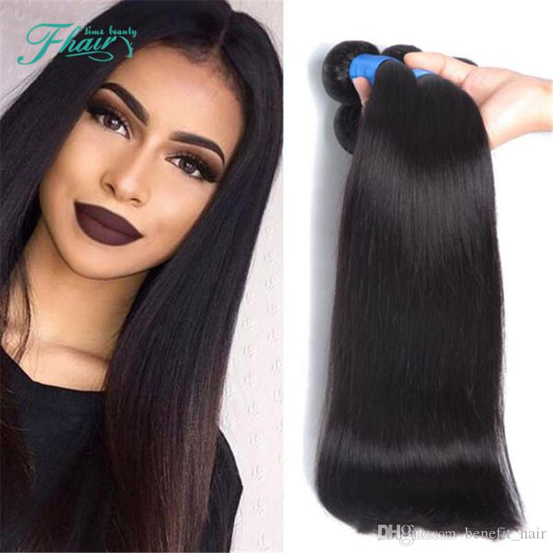 2016 New Style 7a Unprocessed Hair Straight Human Hair Weave 3